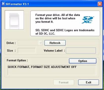 Como formatar um cartão de memória SD