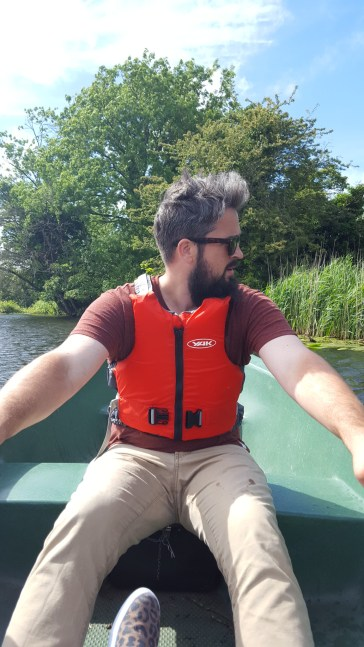 Me rowing the Stour