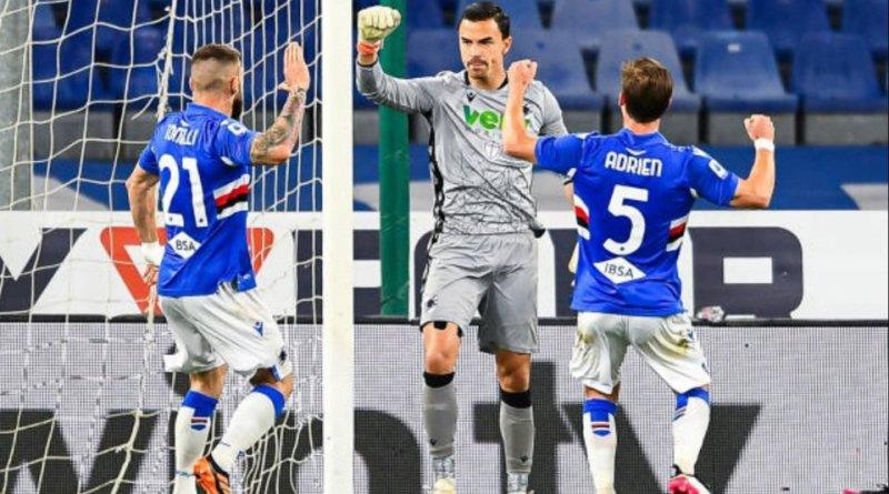 """Samp-Roma, Audero: """"Per me felicità doppia, obiettivo 52 punti"""". Video."""