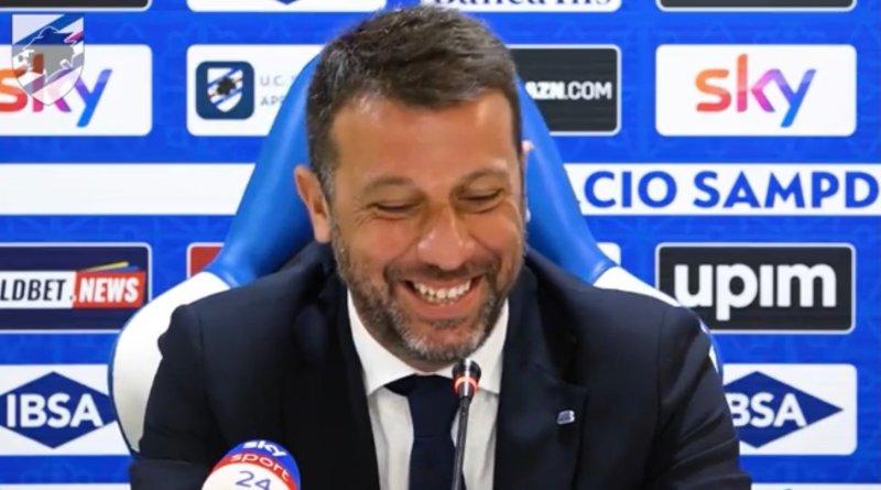 """Empoli-Samp, D'Aversa: """"Prova di maturità superata. Devo fare i complimenti ai ragazzi""""."""
