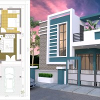 One Story House with 3 Bedroom Plot 36x50