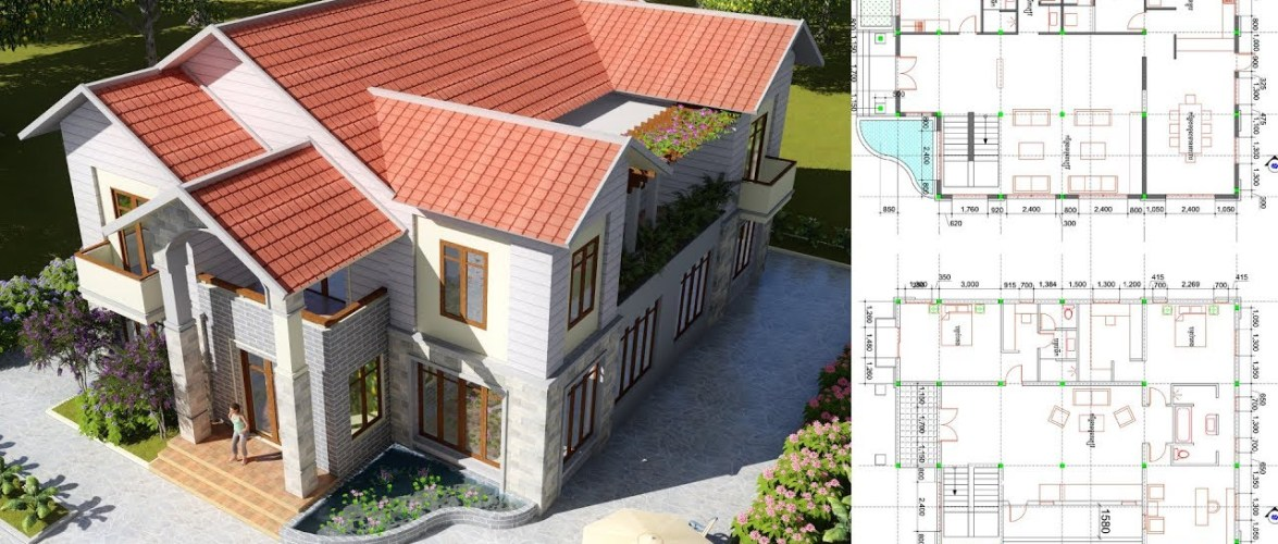 4 Bedroom Villa Design Idea 12m x 16,5m