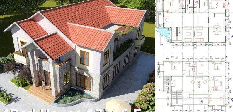 4 Bedroom Villa Design Idea 12m x 16,5m