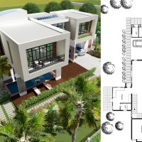 4 Bedrooms Modern Villa Design 27x15.6m