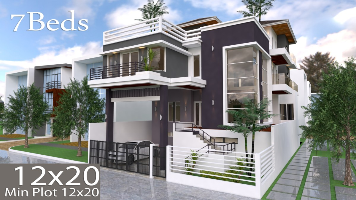 7 Bedroom Villa Design 12mx20m