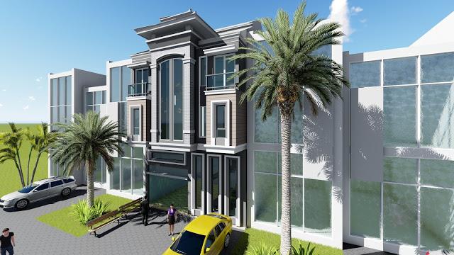 Front Elevation Villa Design 8m