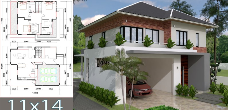 3 bedroom Villa Design 11x13m