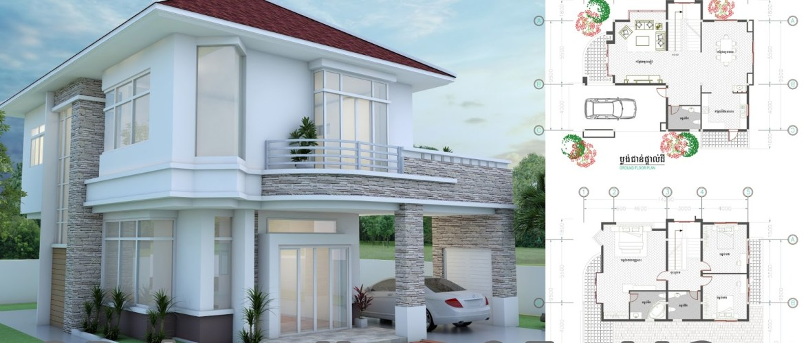 3 Bedrooms Modern Home Plan 9.5 x14.2m