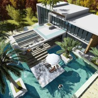 Sketchup Modeling Modern Villa Design 13 + Lumion Render Part1
