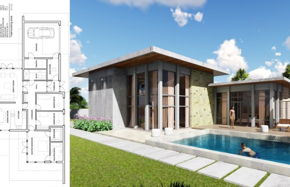 One Story House 3 bedroom Exterior Design
