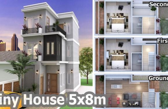 2 Bedroom Tiny Home Plan 5x8m