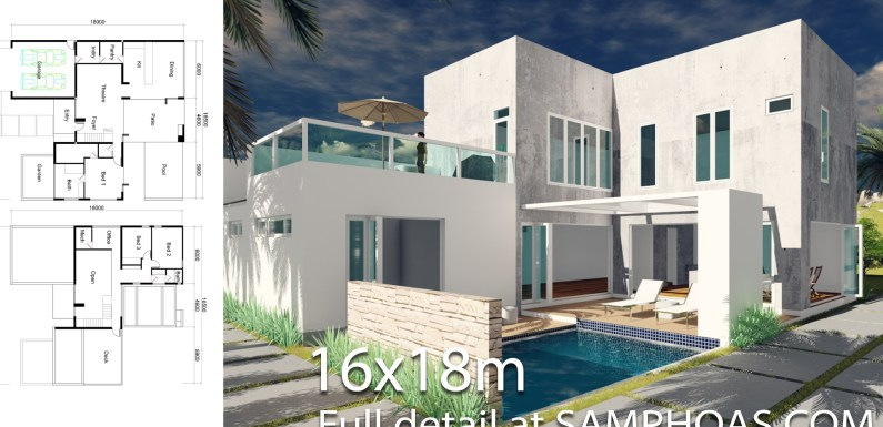 3 bedrooms Villa Design 16x18m