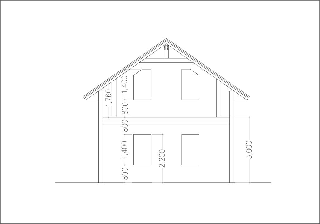 2 Story House Plan 8x11m With 3 Bedrooms - Sam Phoas Home