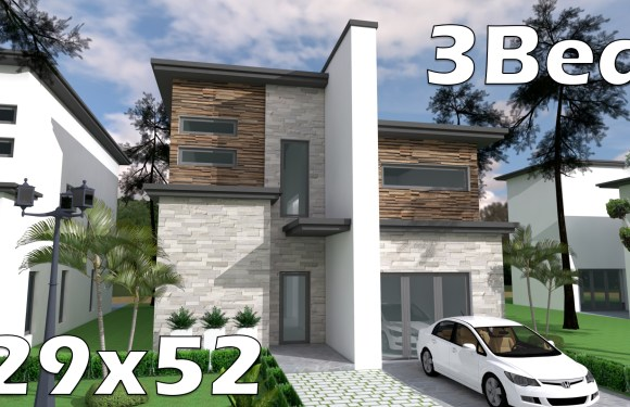 29×52 Bungalow House with 3 Bedrooms