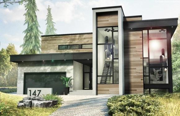 2 Story Modern House Style 53×47