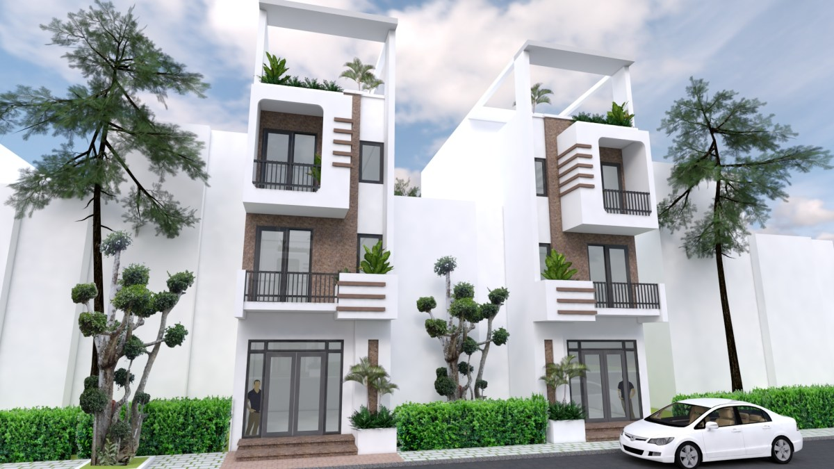 Front Design of Small House 4.2 Meter