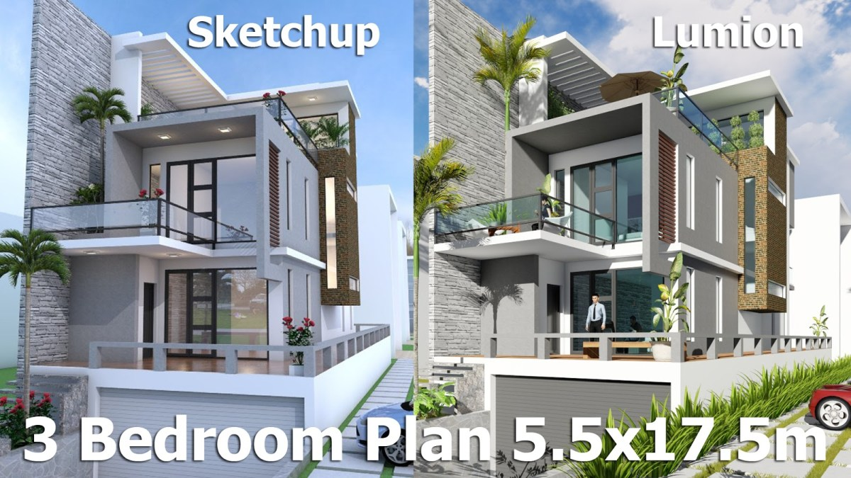 Modern House Plans With Land Size 7mx26m
