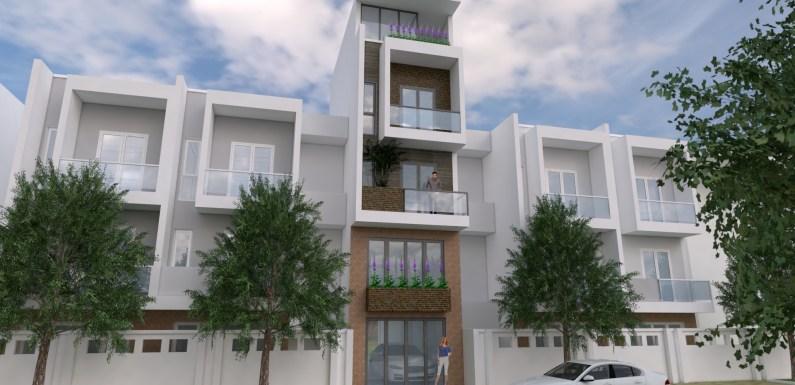 Narrow House Design Plan 4 x 13 Meter