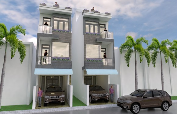 Modern Narrow House Design 3.5 x 18 meter