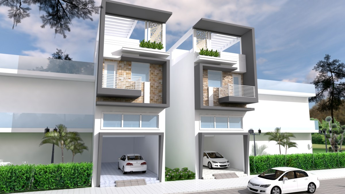 Narrow House Design front size 5m