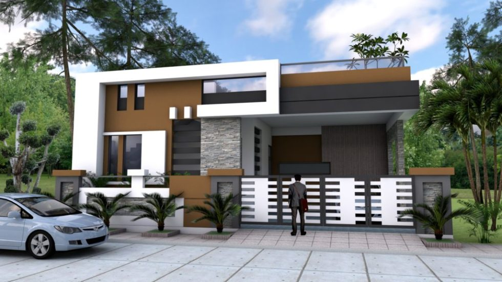 Home Design 40x60F with 4 Bedrooms