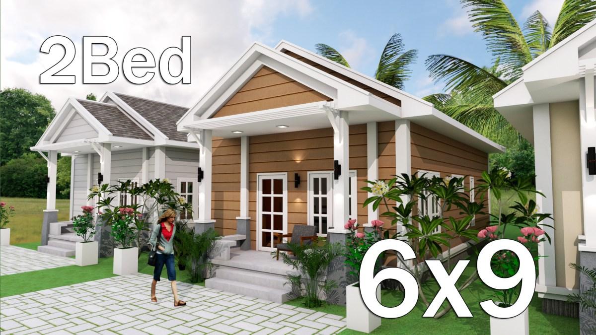 Low Budget Home Plan 6x9 Meter 2 Bedrooms