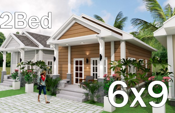 Low Budget Home Plan 6×9 Meter 2 Bedrooms