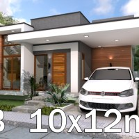 3 Bedrooms Home Design Plan 10x12m