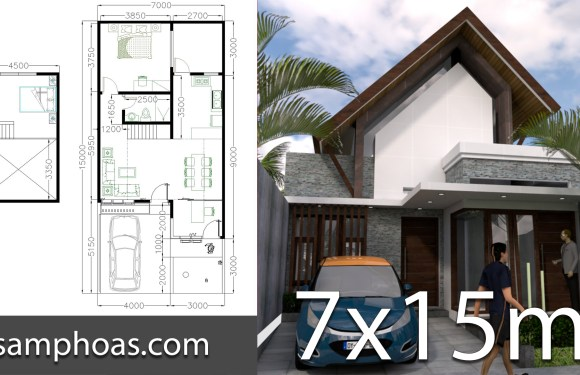 One Story Home Design 7x15m