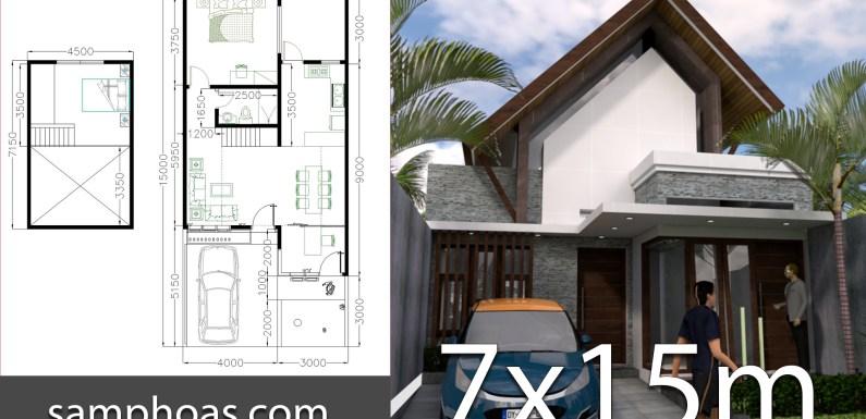 One Story Home Design 7x15m