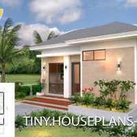 Small House Plans 5x7 with One Bedroom Hip Roof