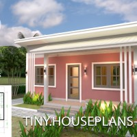 House Plans 8x6 with One Bedrooms Shed roof