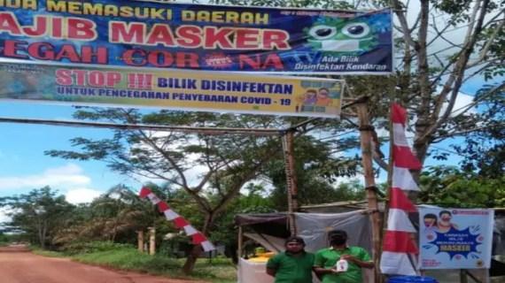 Gotong Royong Lawan Covid-19, Warga Tanah Mas Inisiatif Buat Bilik Disinfektan