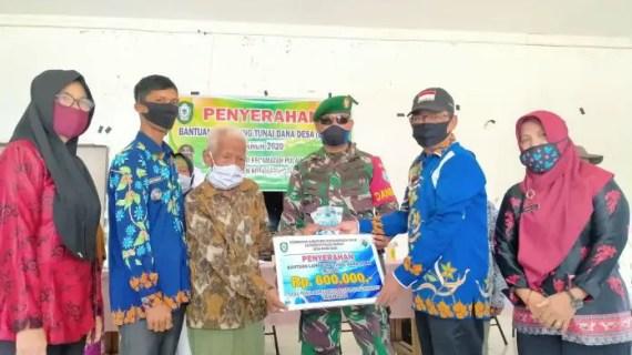 Camat Pulau Hanaut Saksikan Penyerahan BLT-DD Rawa Sari