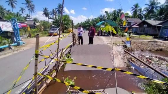 Jembatan Ambruk Antar Kabupaten Bakal Diganti Box Culvert