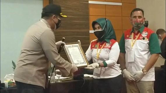 Polres kotawaringin Timur Laksanakan Pengawalan Penetapan Nomor Urutan Pasalon Bupati Kotim