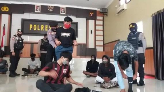 Belasan Pelajar Ikut Demo Diamankan Polisi