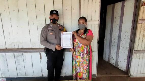 Bhabinkamtibmas Desa Cempaka Mulia Timur Imbau Patuhi Prokes dan Maklumat Kapolri
