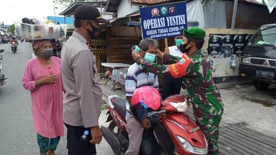 Polsek Baamang Rutin Laksanaan Operasi Yustisi Pendisiplinan Penggunaan Masker
