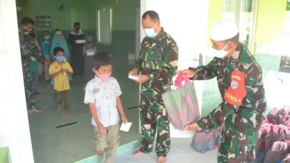 TMMD Lancar, Satgas Syukuran dan Santuni Anak Yatim
