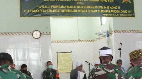 Kodim 1014 Pangkalan Bun Gelar Peringatan Maulid Nabi Besar Muhammad SAW