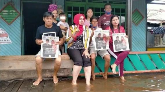 Sapa Warga Desa Palangan, Irawati Langsung Lihat Kondisi Banjir
