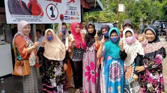 Sapa Warga Desa Simpur, Irawati Didoakan Terpilih Jadi Wakil Bupati Kotim