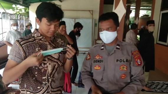 Polsek Baamang Imbau Prokes Jamaah Sholat Jumat