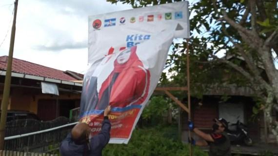 Bawaslu Kotim Laksanakan Penertiban Baliho, Billboard, Umbul-umbul dan Spanduk