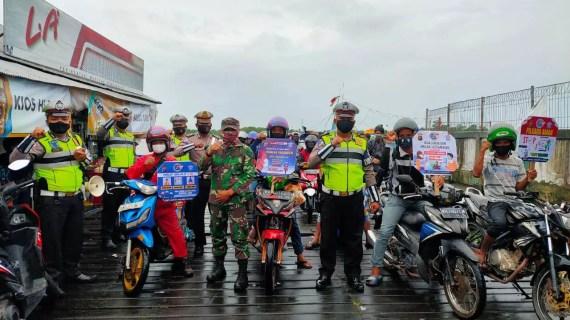 Sat Lantas Polres Kotim Bersama Koramil Laksanakan Binluh Kamseltibcar Lantas