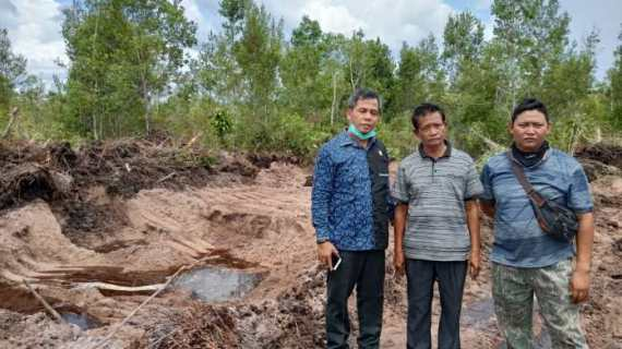 Lokasi Kuburan Km 16 Sampit Terindikasi Sudah Lama Tergarap Galian C