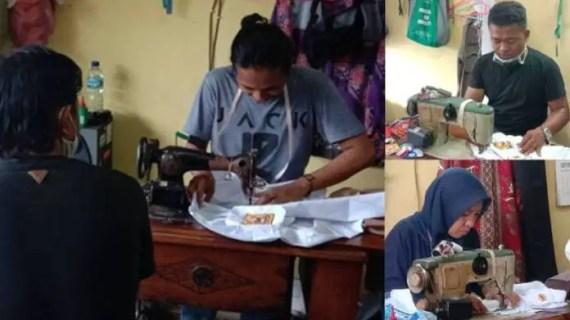 Sekolah Tatap Muka Mulai Diterapkan, Penjahit Banjir Order Pasang Atribut Seragam