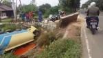 Truk CPO Terjun Ke Sungai di Desa Bepanggang, Kok Bisa?