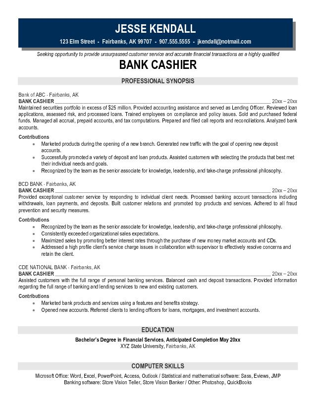 Resume Templates For Banking Jobs Resume Sample